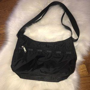 Lesportsac Bags - Lesportsac classic hobo travel purse bag black